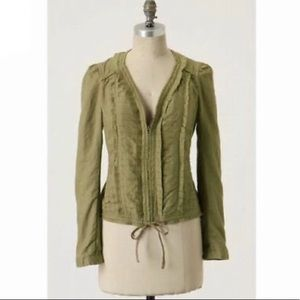 Hei Hei First Harvest Pleated Linen Zip Jacket